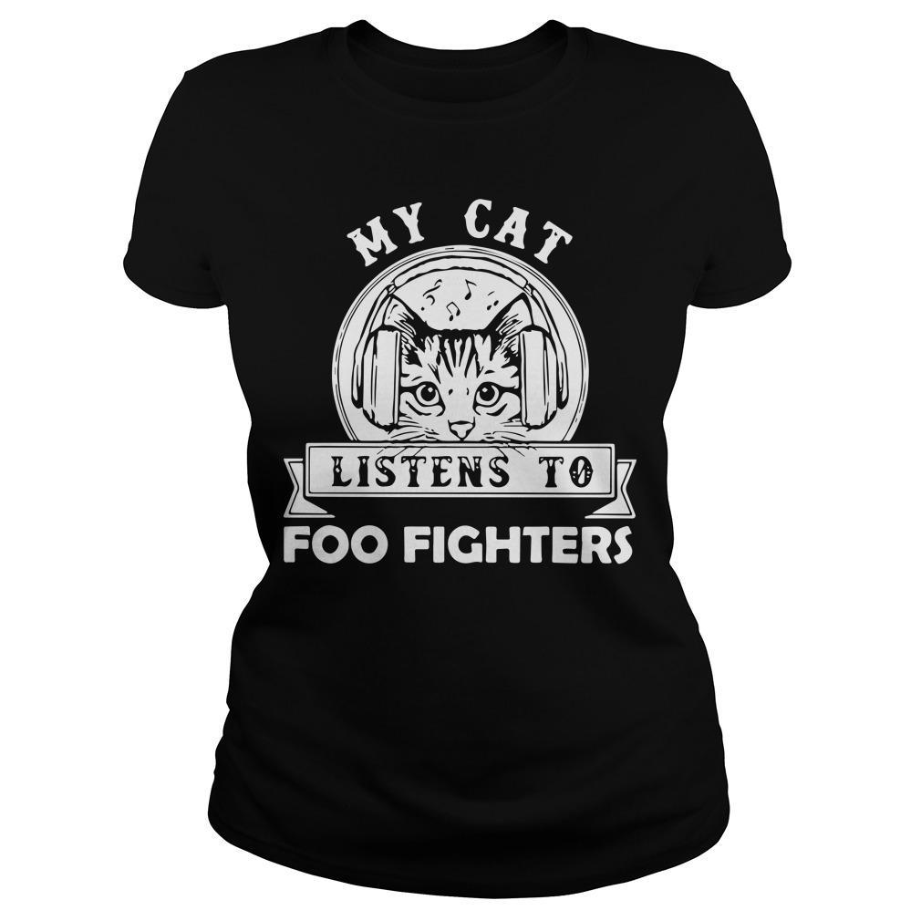 My Cat Listens To Foo Fighters Hoodie