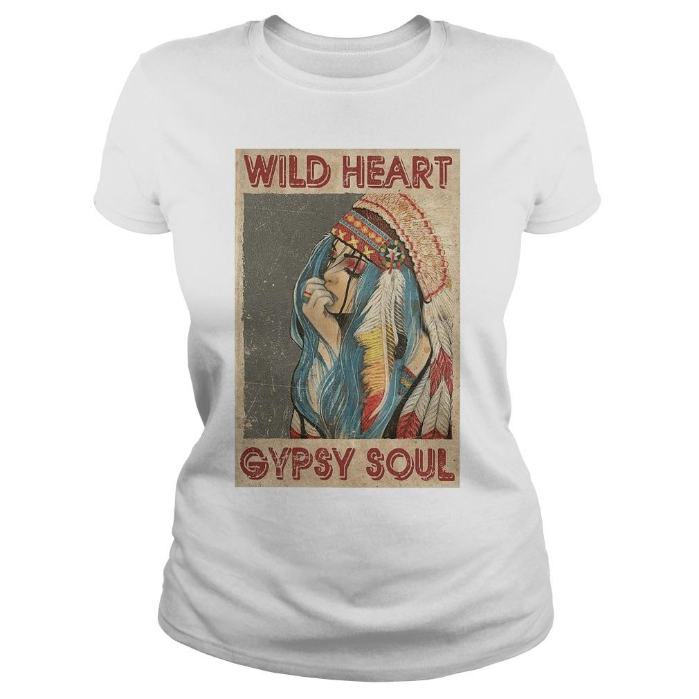Native Girl Wild Heart Gypsy Soul Longsleeve