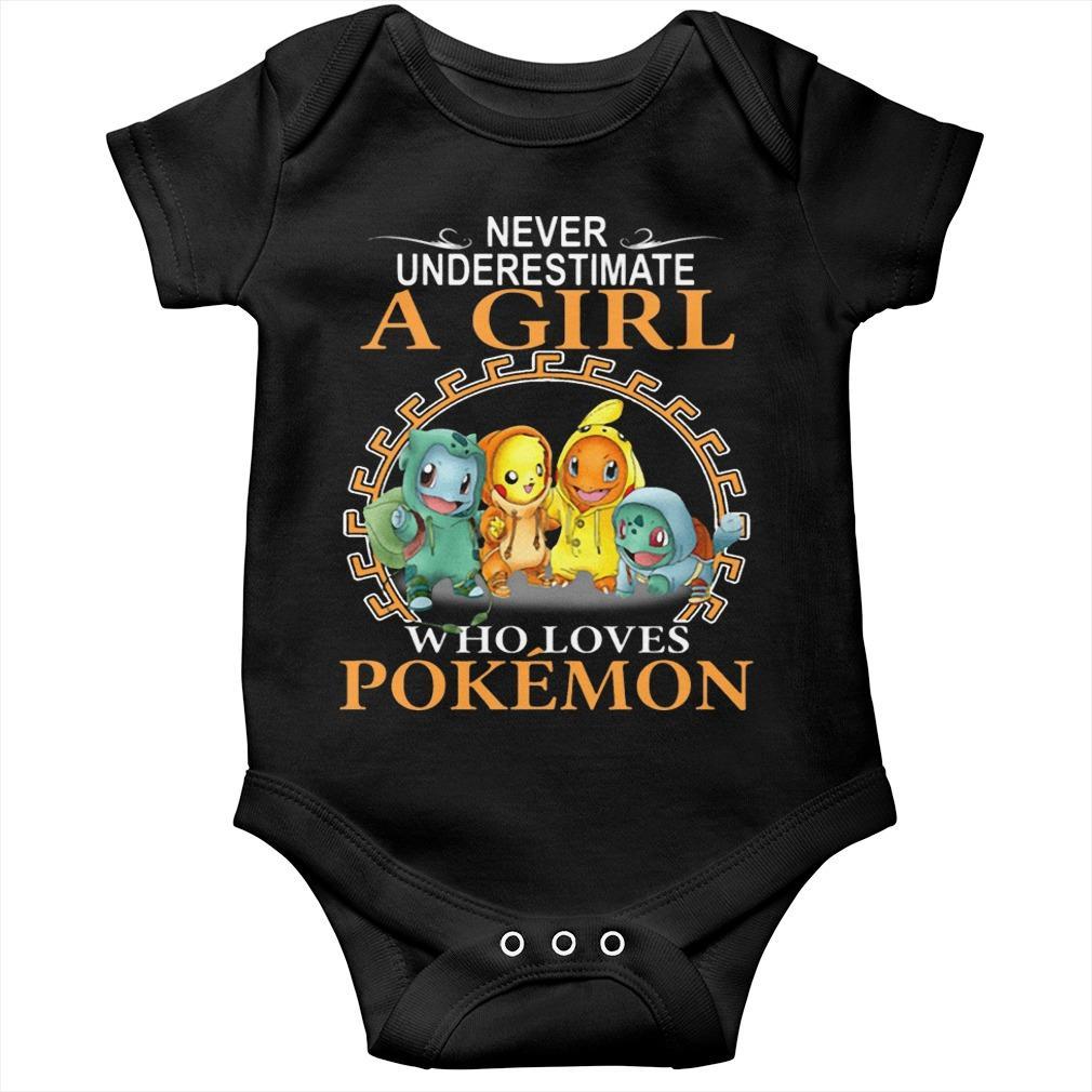 Never Underestimate A Girl Who Loves Pokémon Longsleeve