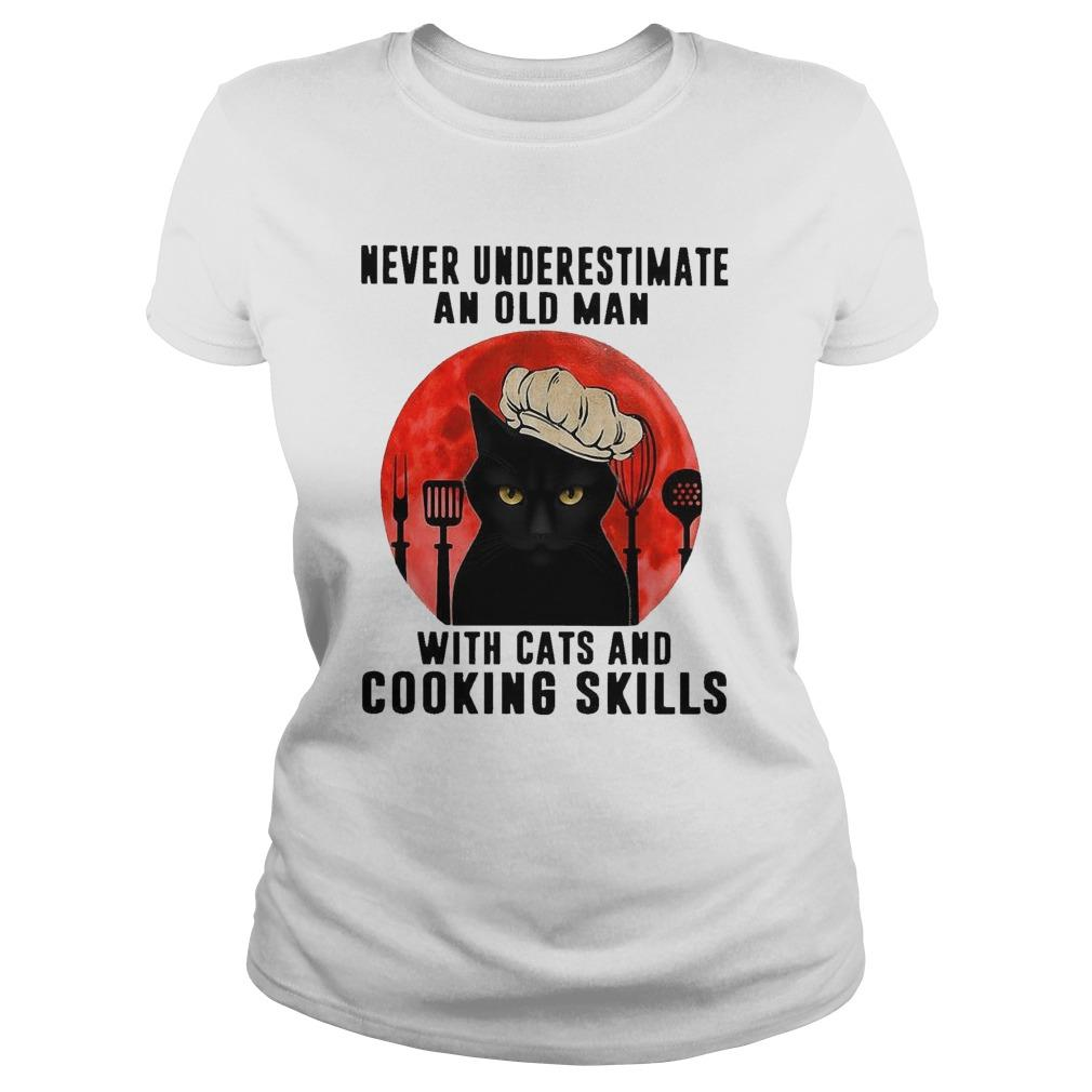 Never Underestimate An Old Man With Cats And Cooking Skills Longsleeve