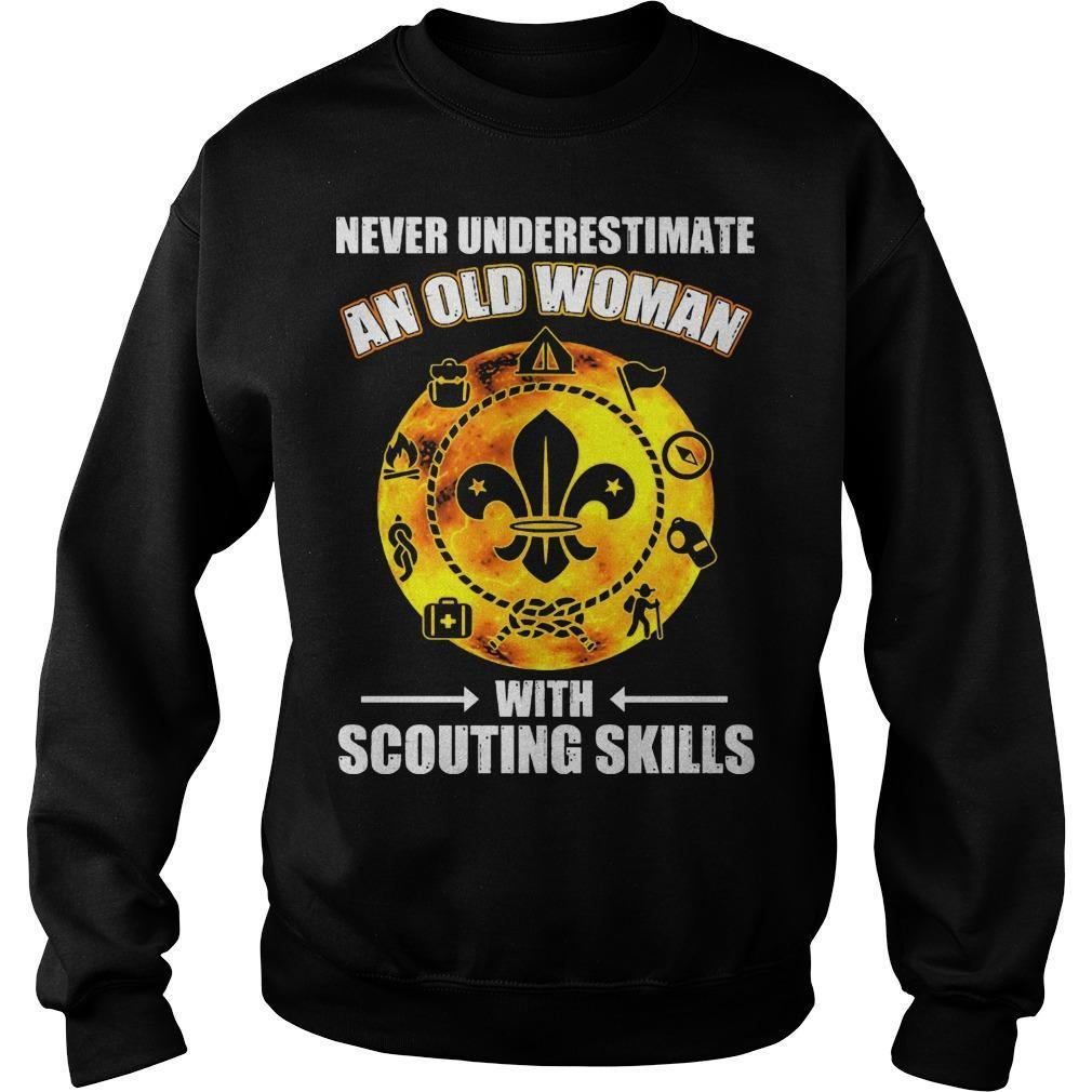 Never Underestimate An Old Woman With Scouting Skills Sweater