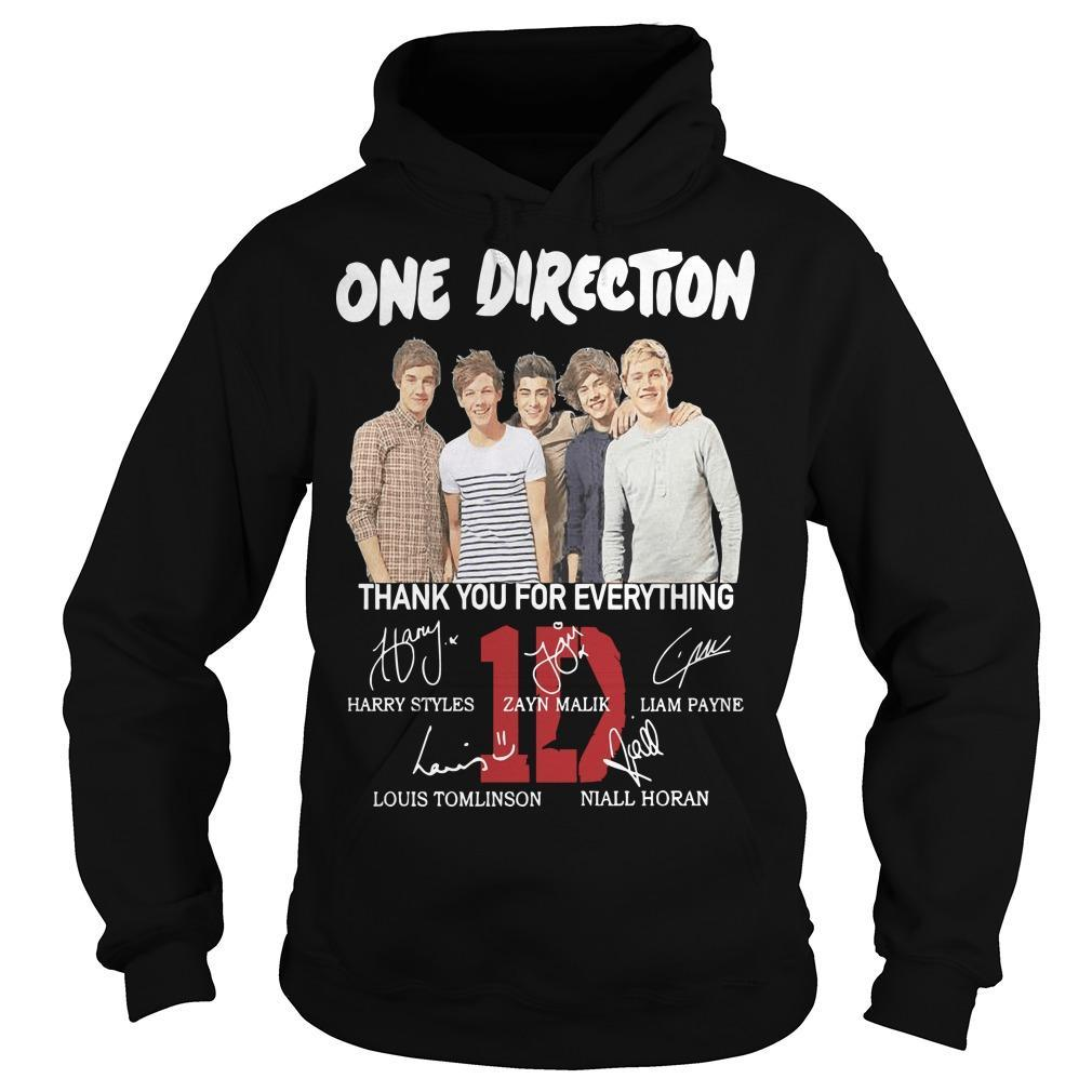 One Direction Signature Thank You For Everything Hoodie