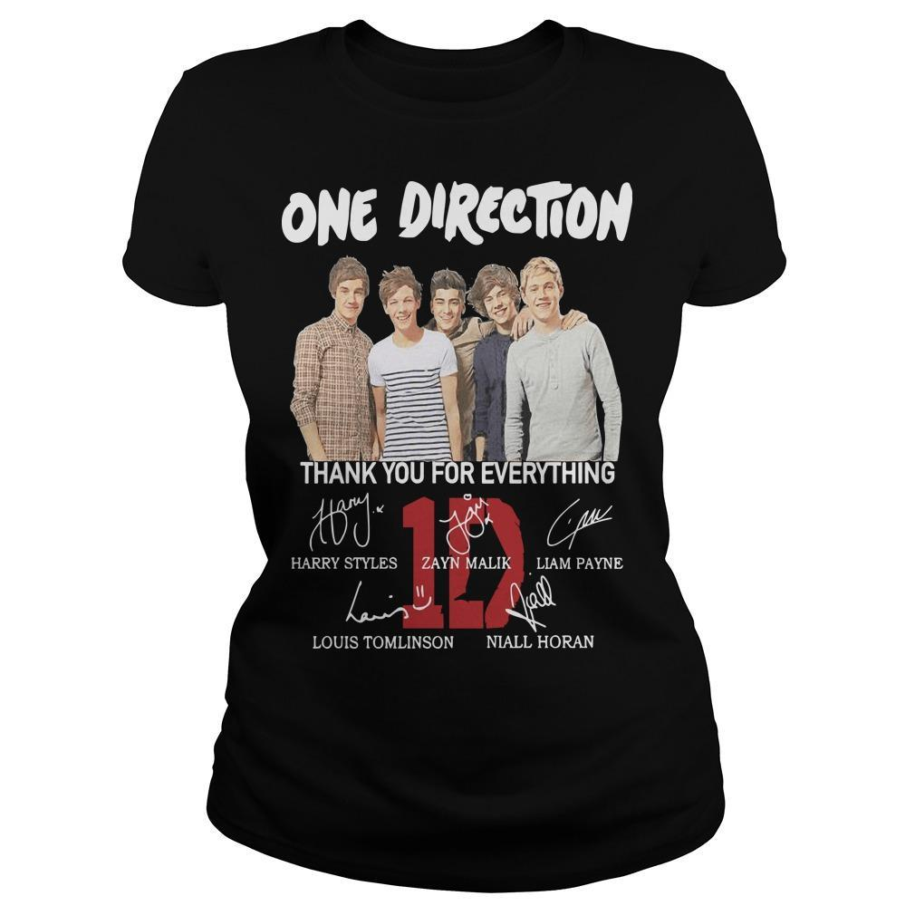 One Direction Signature Thank You For Everything Longsleeve