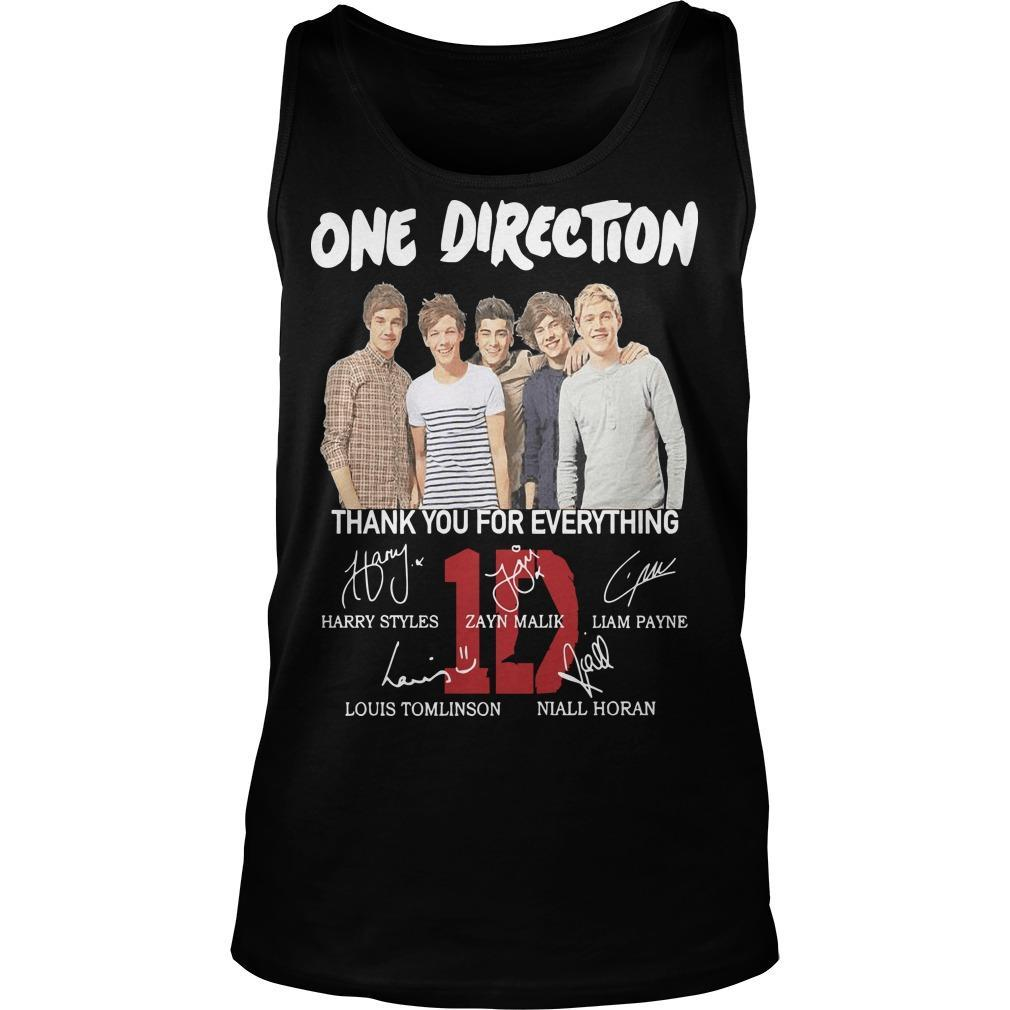 One Direction Signature Thank You For Everything Tank Top