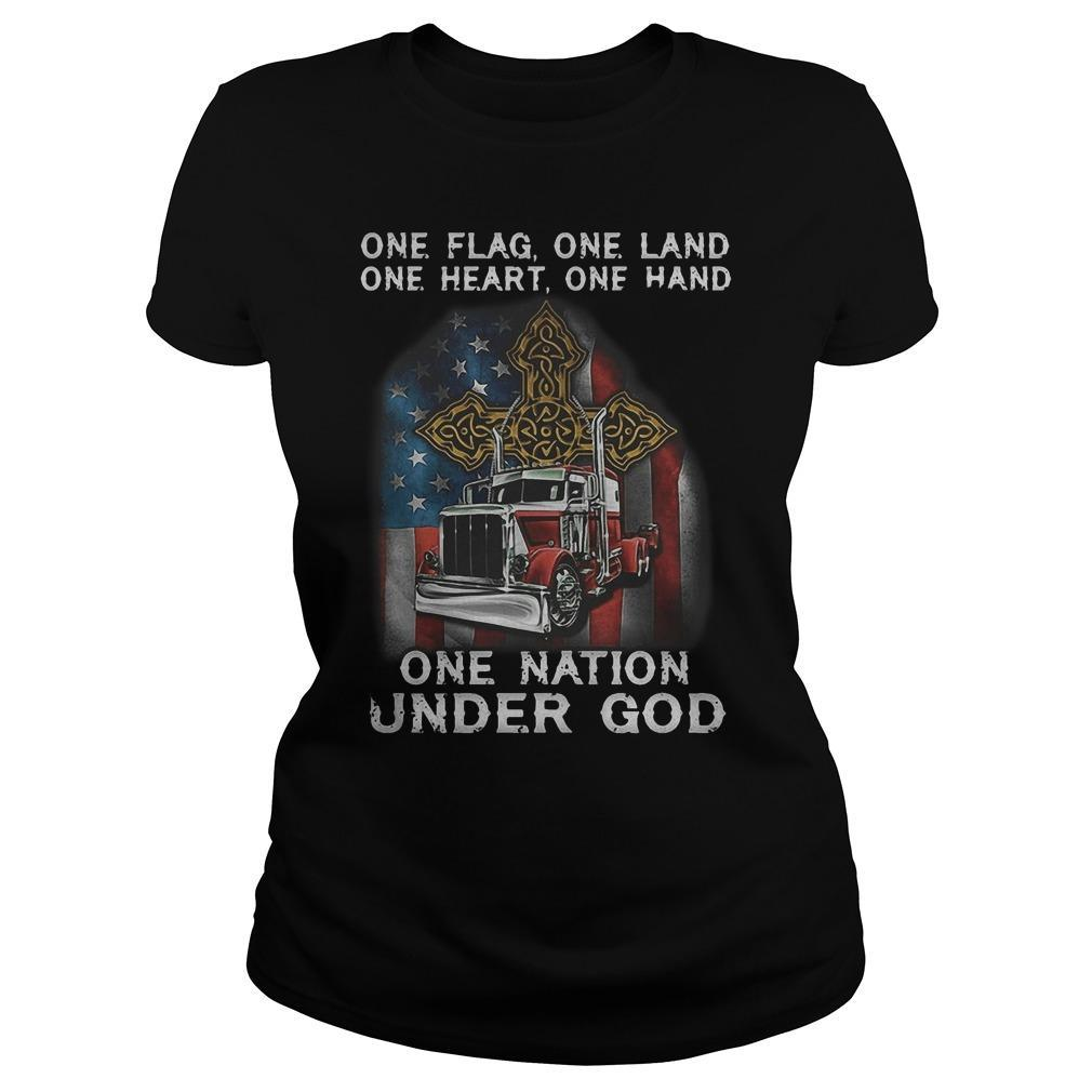 One Flag One Land On Heart One Hand One Nation Under God Longsleeve