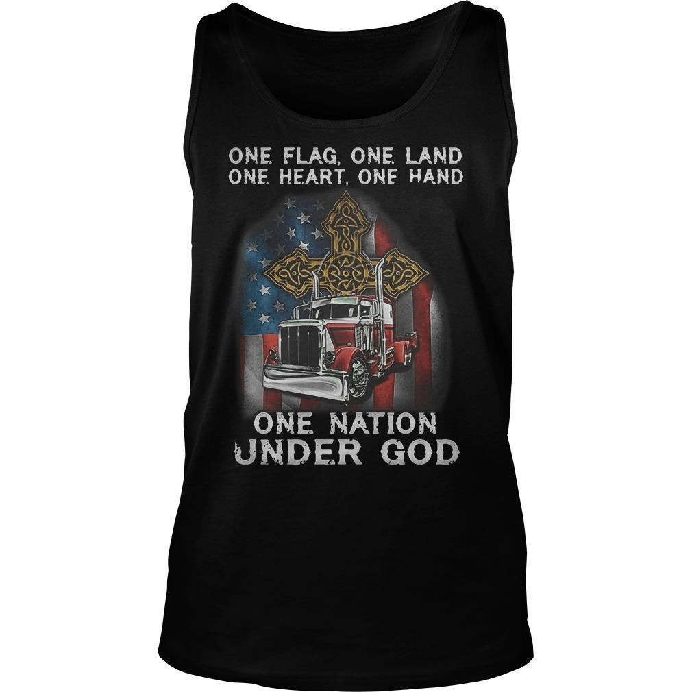 One Flag One Land On Heart One Hand One Nation Under God Tank Top