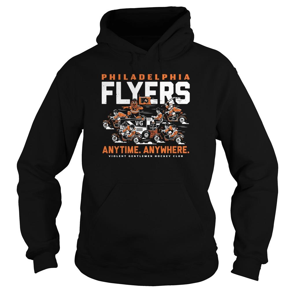 Philadelphia Flyers Anytime Anywhere Violent Gentlemen Hockey Club Hoodie