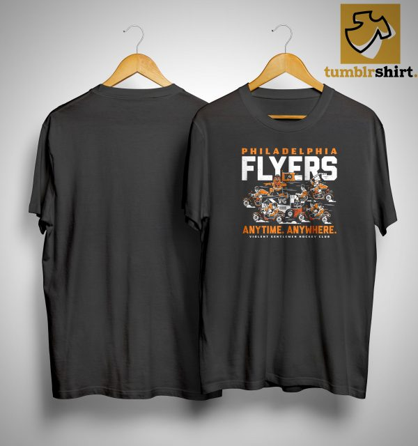 Philadelphia Flyers Anytime Anywhere Violent Gentlemen Hockey Club Shirt