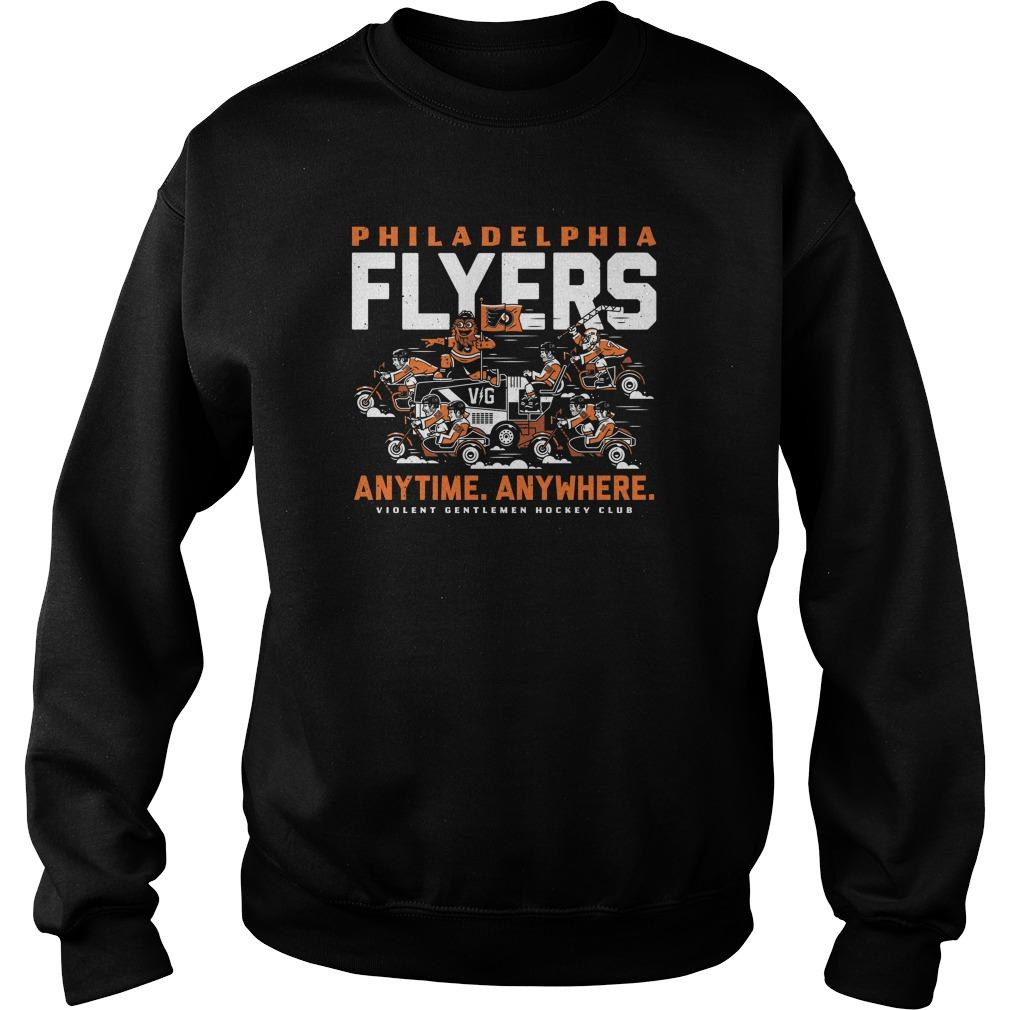 Philadelphia Flyers Anytime Anywhere Violent Gentlemen Hockey Club Sweater