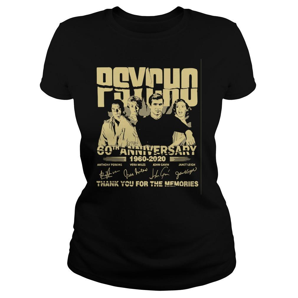 Psycho 60th Anniversary 1960 2020 Thank You For The Memories Signature Longsleeve
