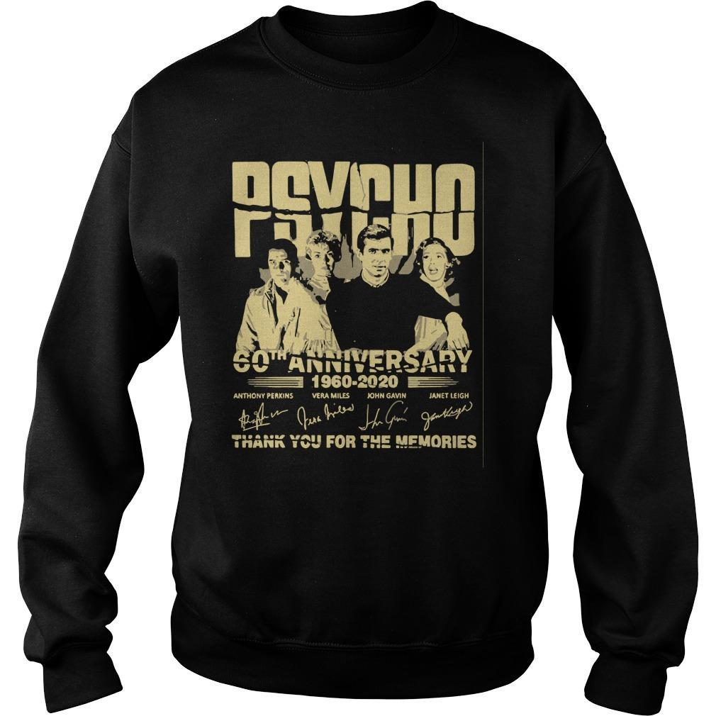 Psycho 60th Anniversary 1960 2020 Thank You For The Memories Signature Sweater