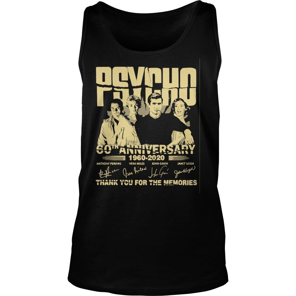 Psycho 60th Anniversary 1960 2020 Thank You For The Memories Signature Tank Top