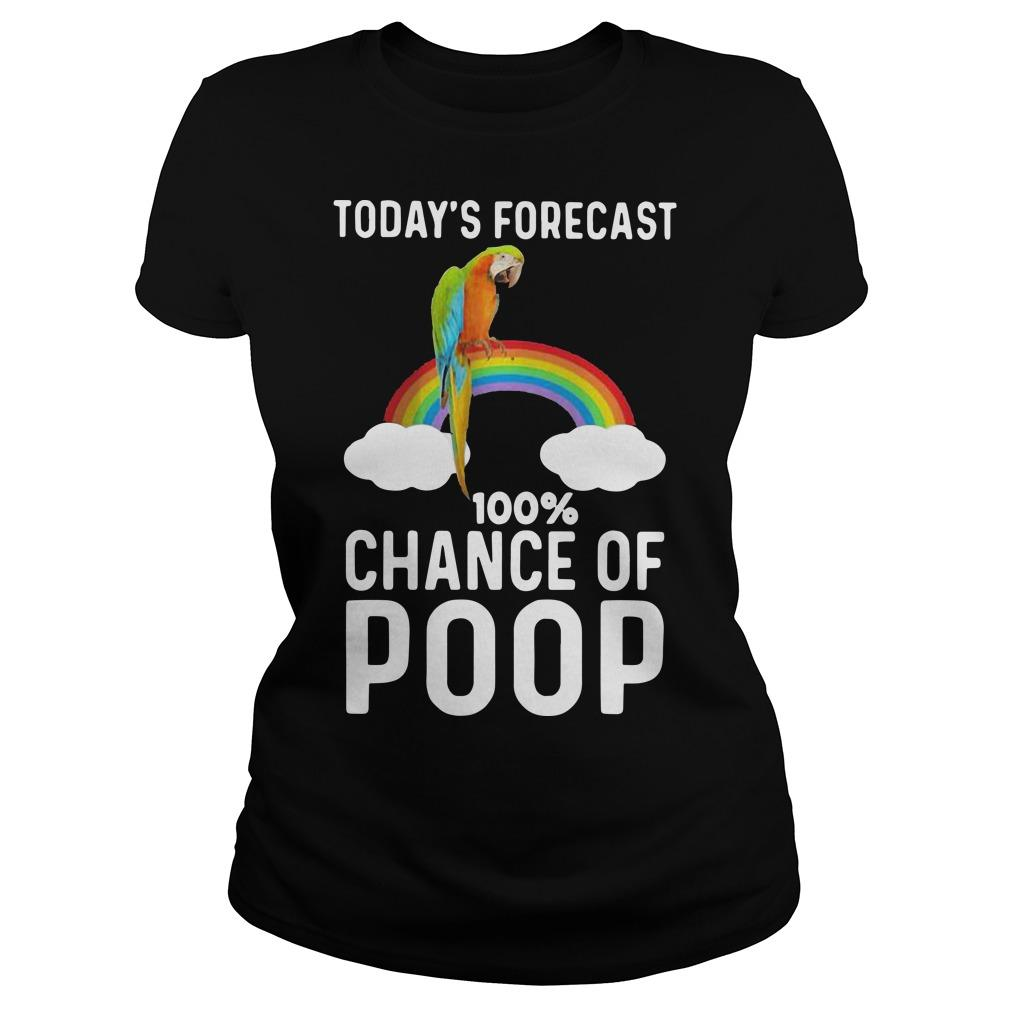 Rainbow Today's Forecast 100 Percent Chance Of Poop Longsleeve