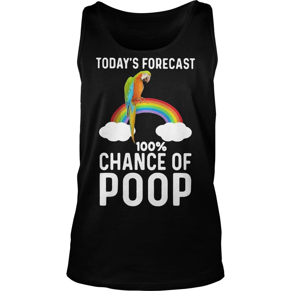 Rainbow Today's Forecast 100 Percent Chance Of Poop Tank Top