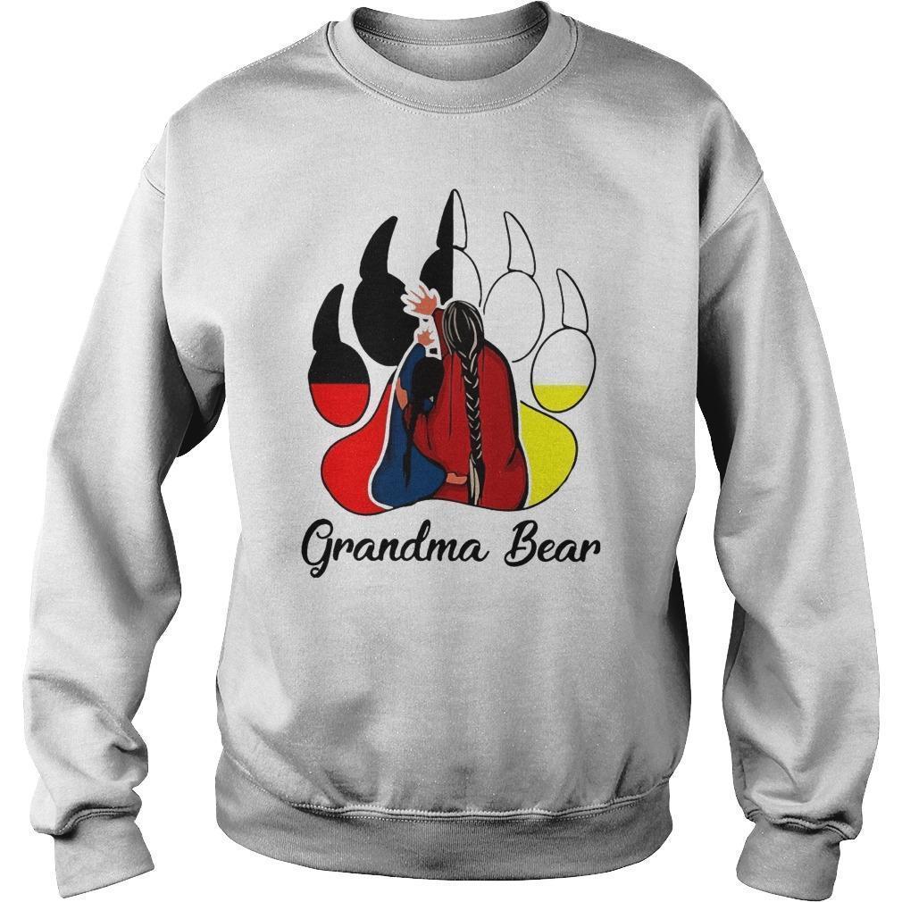 Red Indian Grandma Bear Sweater