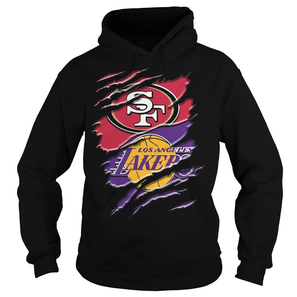 San Francisco 49ers Vs Los Angeles Lakers Hoodie