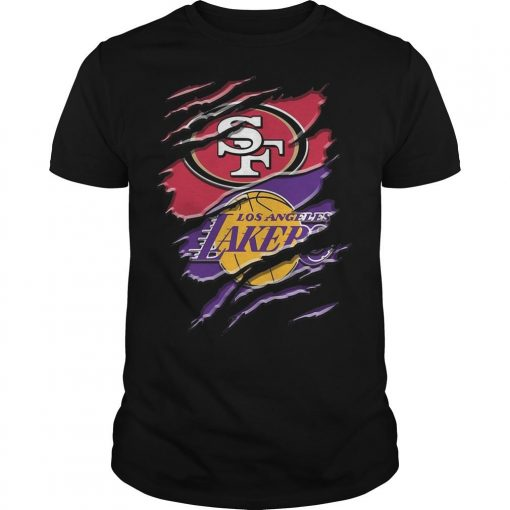 San Francisco 49ers Vs Los Angeles Lakers Shirt