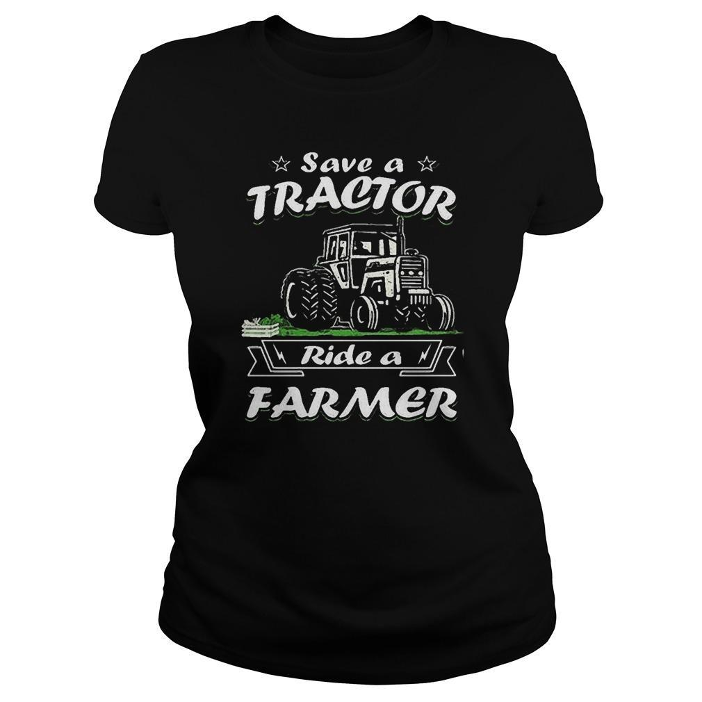 Save A Tractor Ride A Farmer Longsleeve