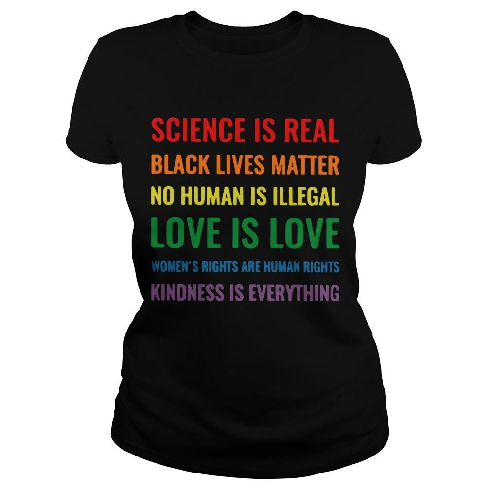 Science Is Real Black Lives Matter Longsleeve