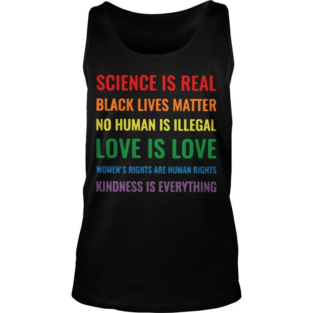 Science Is Real Black Lives Matter Tank Top
