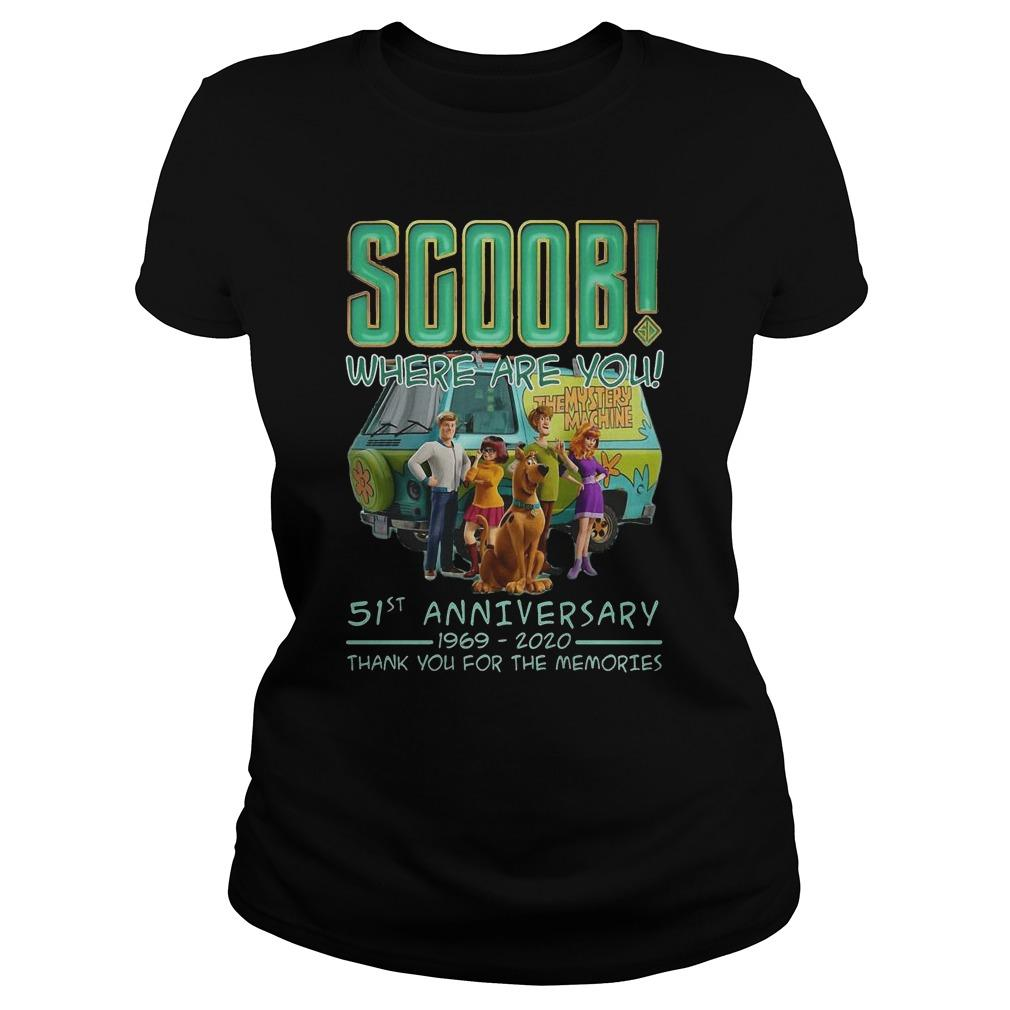 Scoob Where Are You 51st Anniversary 1969 2020 Thank You For The Memories Longsleeve