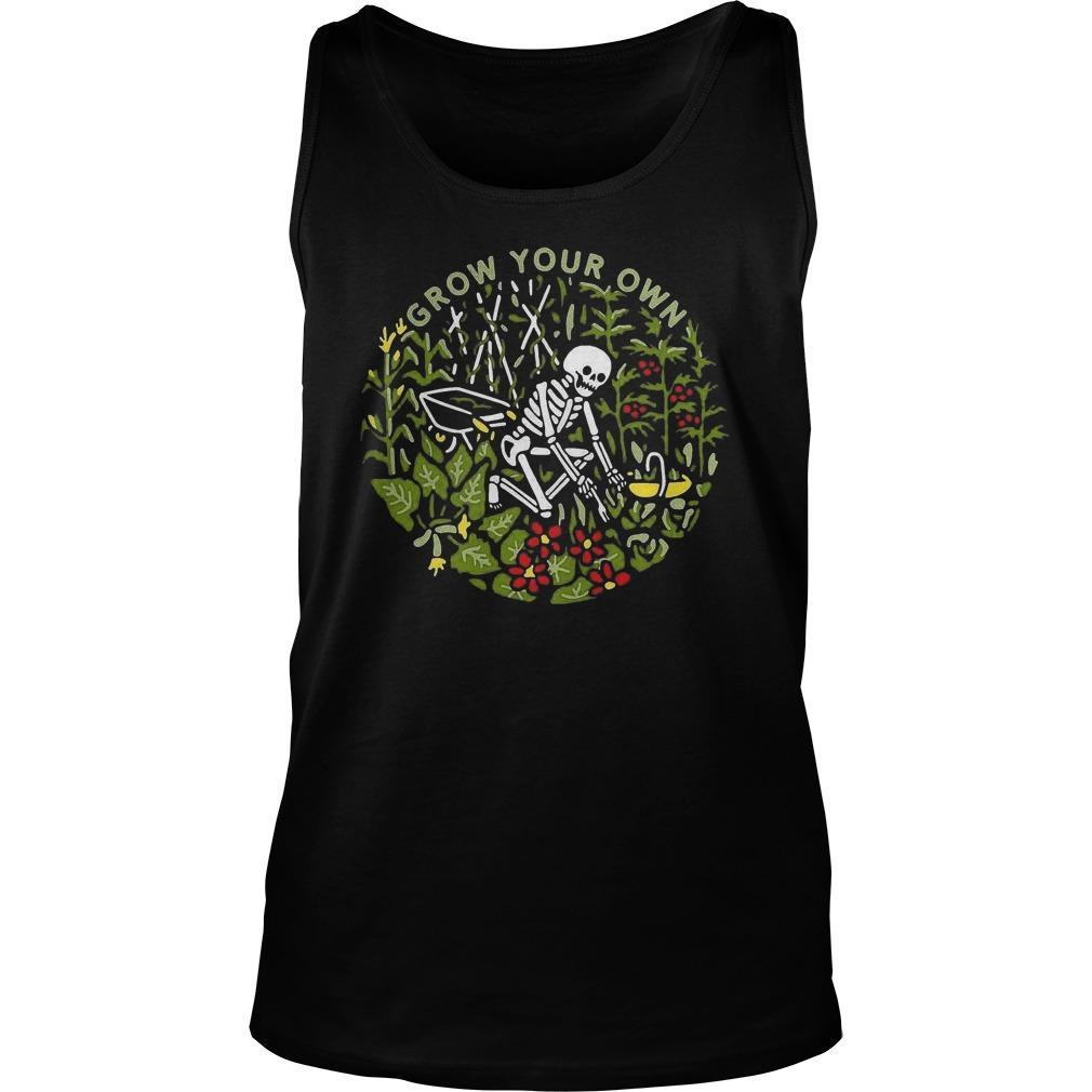 Skeleton Grow Your Own Tank Top