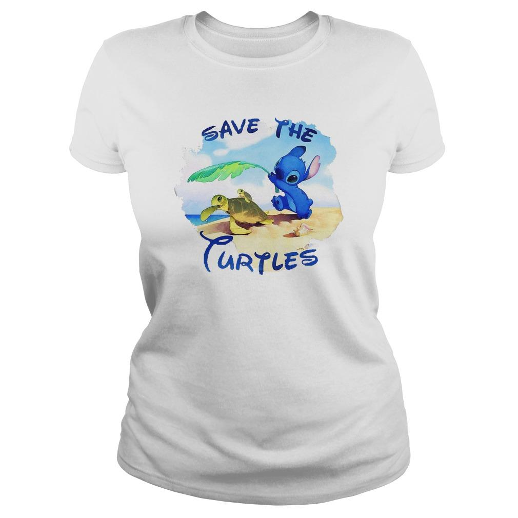 Stitch Save The Turtles Longsleeve