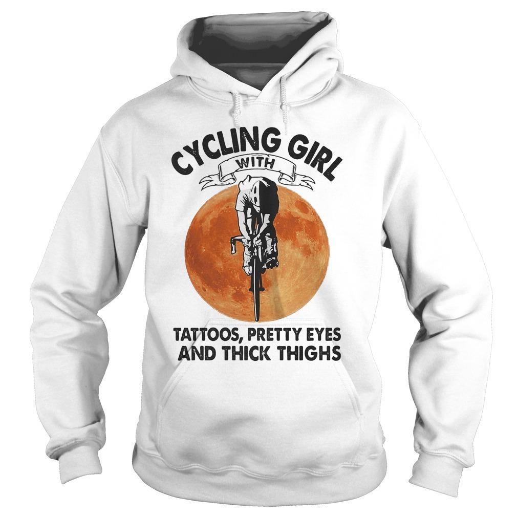 Sunset Cycling Girl With Tattoos Pretty Eyes And Thick Thighs Hoodie