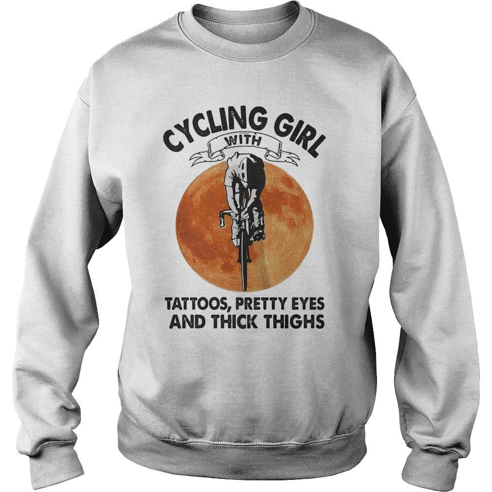 Sunset Cycling Girl With Tattoos Pretty Eyes And Thick Thighs Sweater
