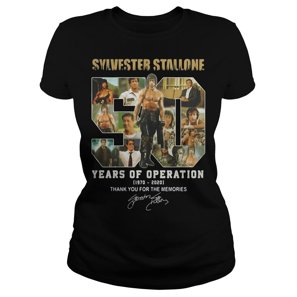 Sylvester Stallone 50 Years Of Operation Thank You For The Memories Longsleeve