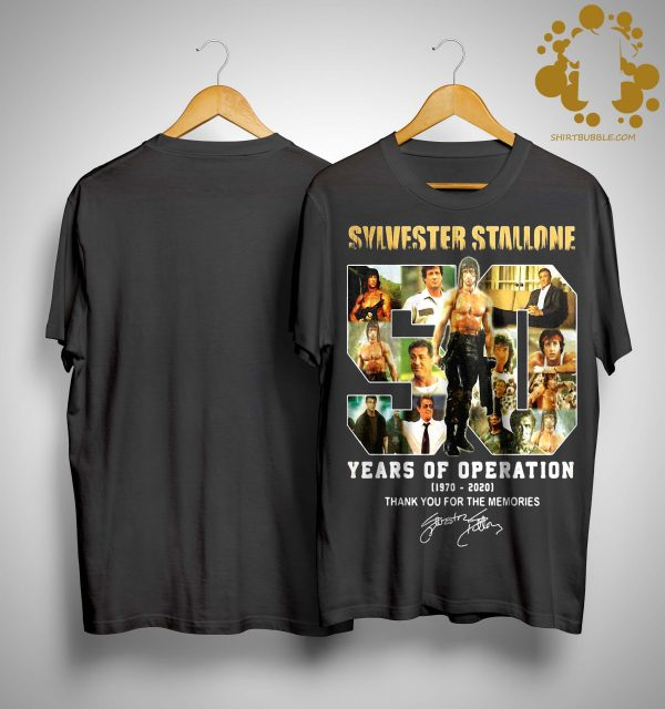 Sylvester Stallone 50 Years Of Operation Thank You For The Memories Shirt