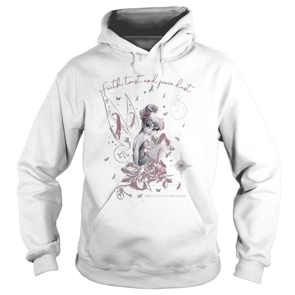 Tinkerbell Faith Trust And Pure Dust Breast Cancer Awareness Hoodie