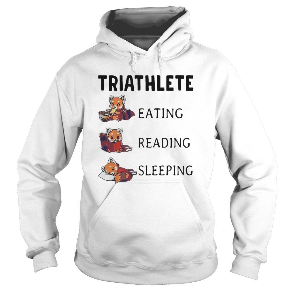 Triathlete Eating Reading Sleeping Hoodie
