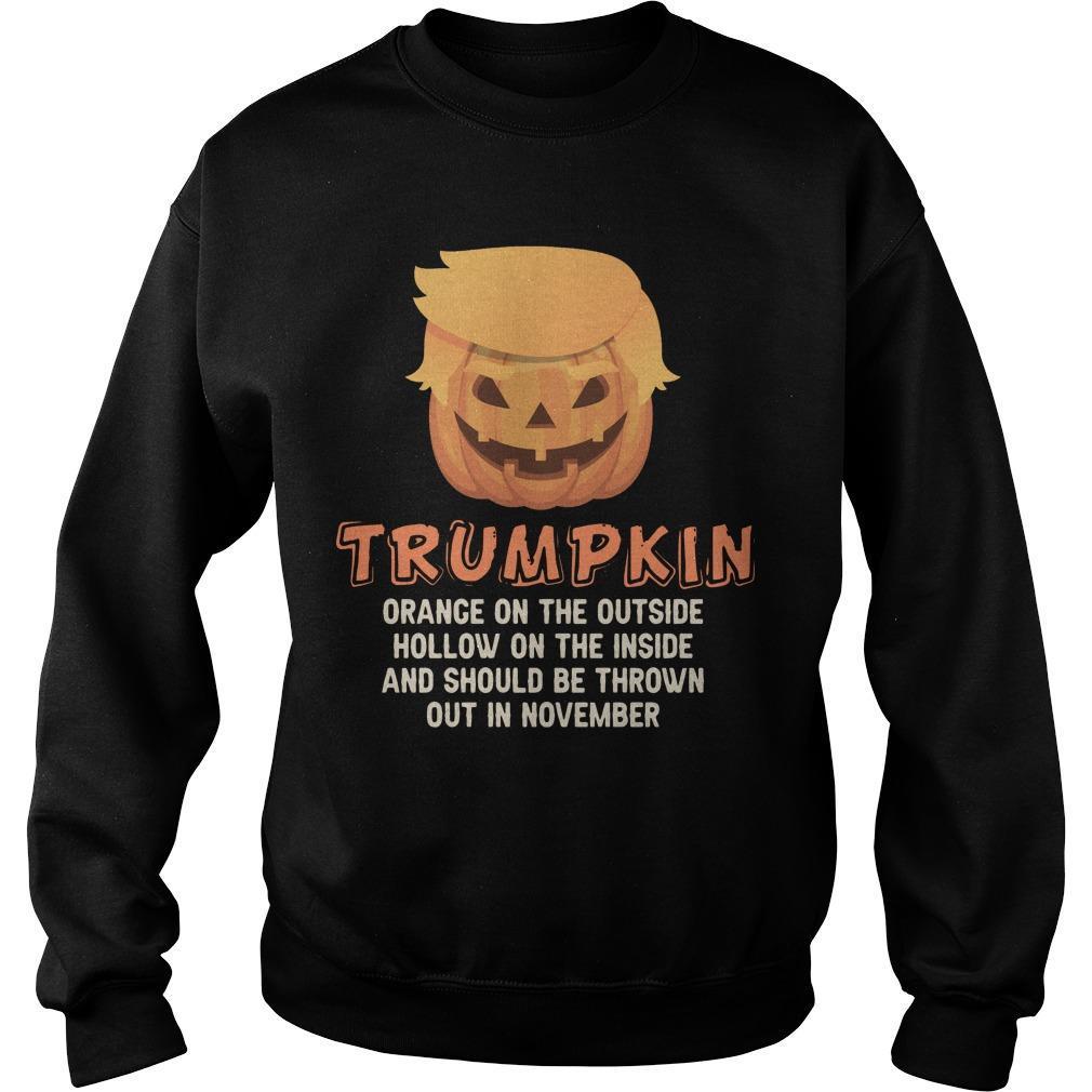 Trumpkin Orange On The Outside Hollow On The Inside Sweater