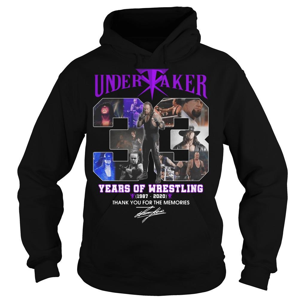 Undertaker 33 Years Of Wrestling Thank You For The Memories Hoodie