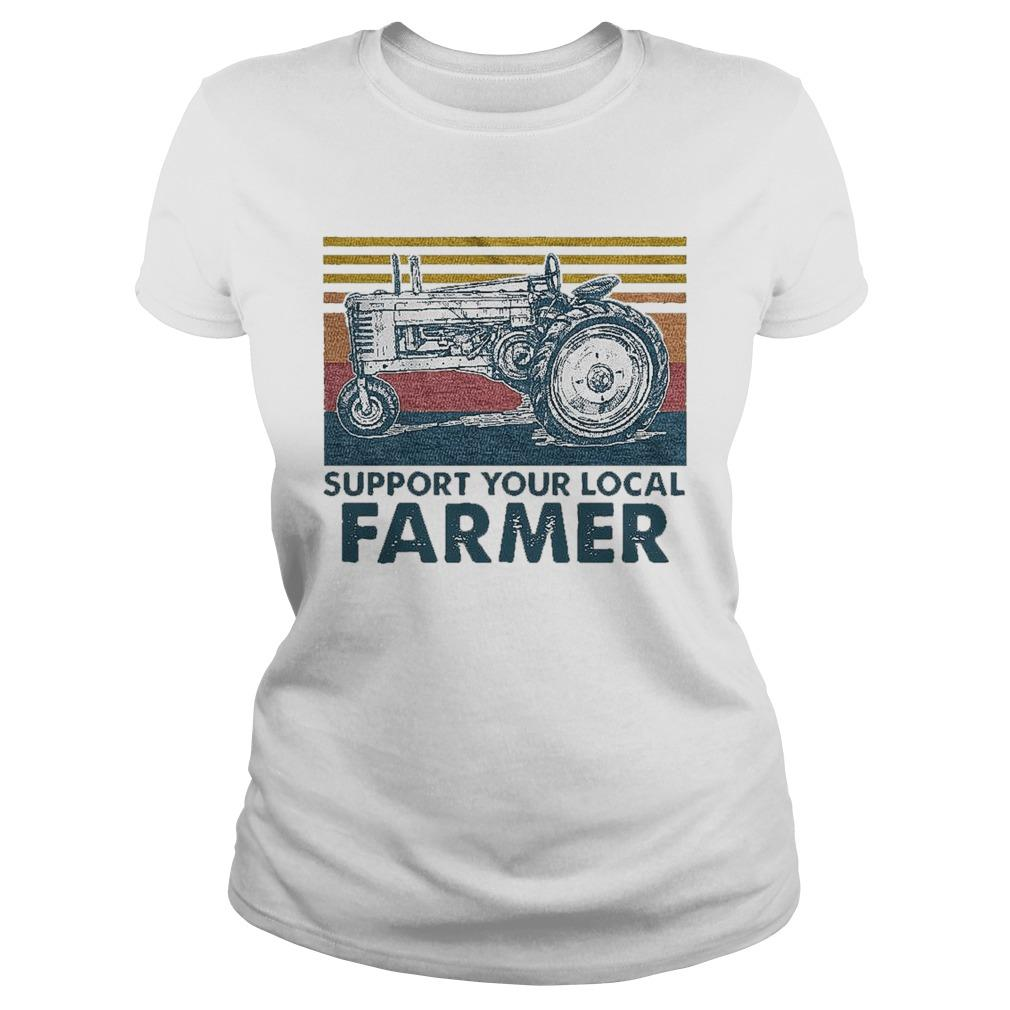 Vintage Agrimotor Support Your Local Farmer Longsleeve