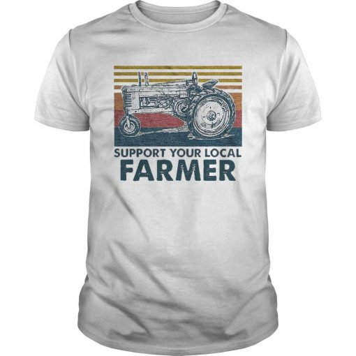 Vintage Agrimotor Support Your Local Farmer Shirt
