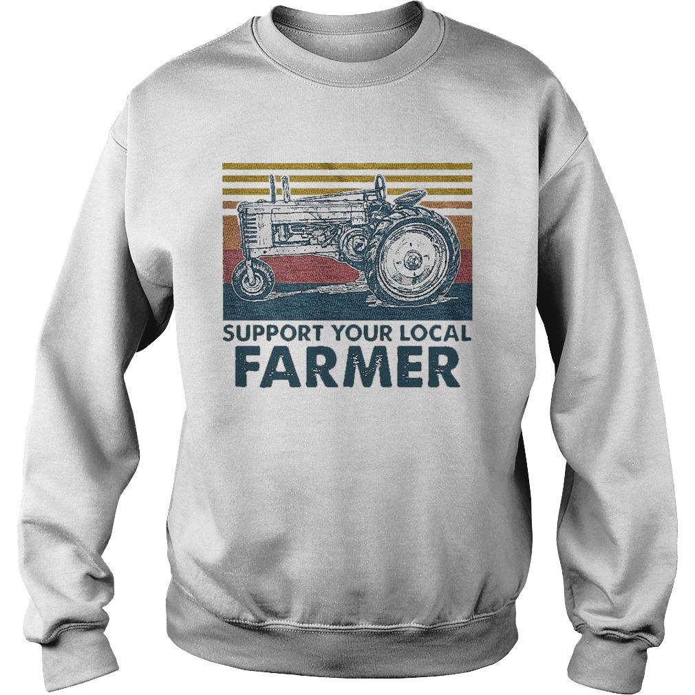 Vintage Agrimotor Support Your Local Farmer Sweater