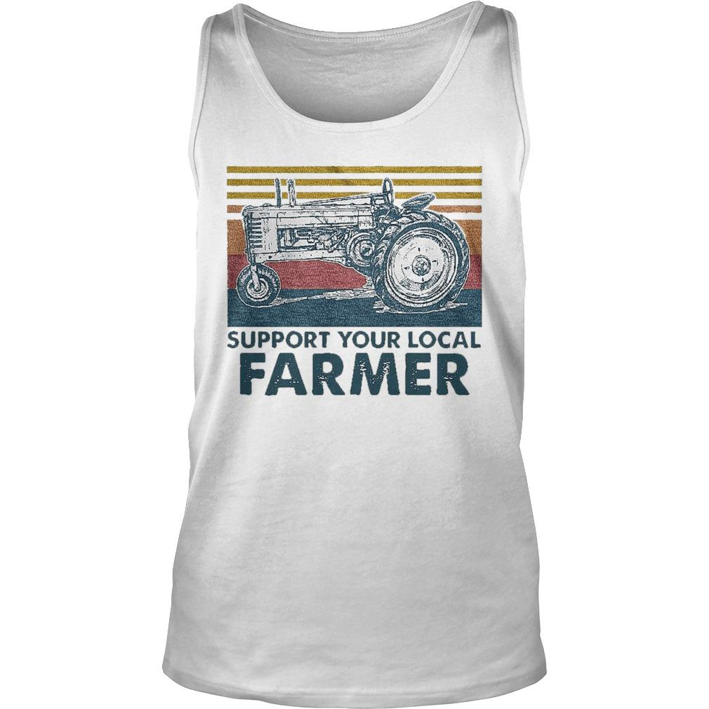 Vintage Agrimotor Support Your Local Farmer Tank Top