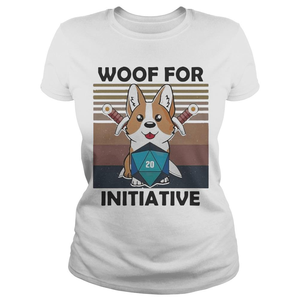 Vintage Baby Corgi Dungeon Woof For Initiative Longsleeve