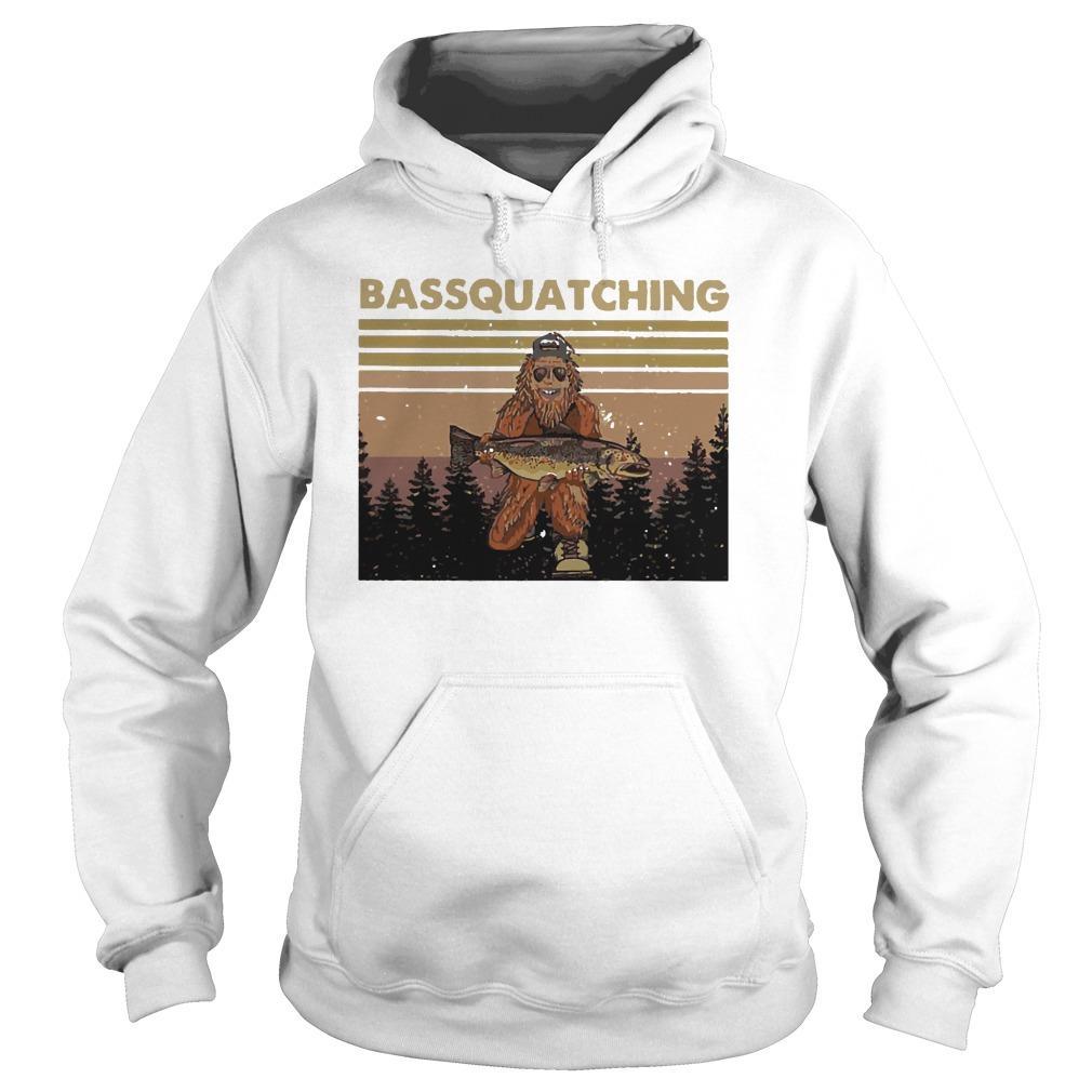 Vintage Bigfoot Bassquatching Hoodie