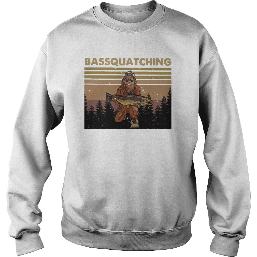 Vintage Bigfoot Bassquatching Sweater