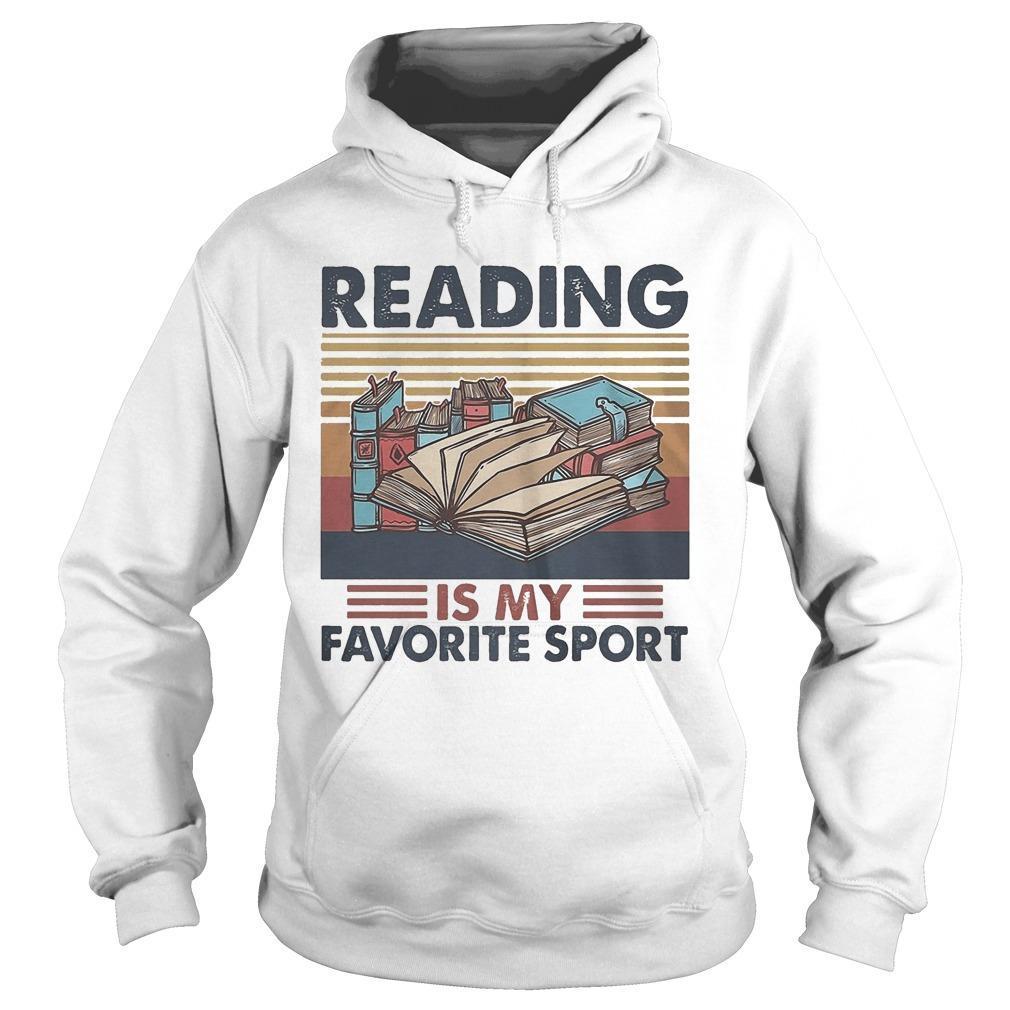 Vintage Books Reading Is My Favorite Sport Hoodie