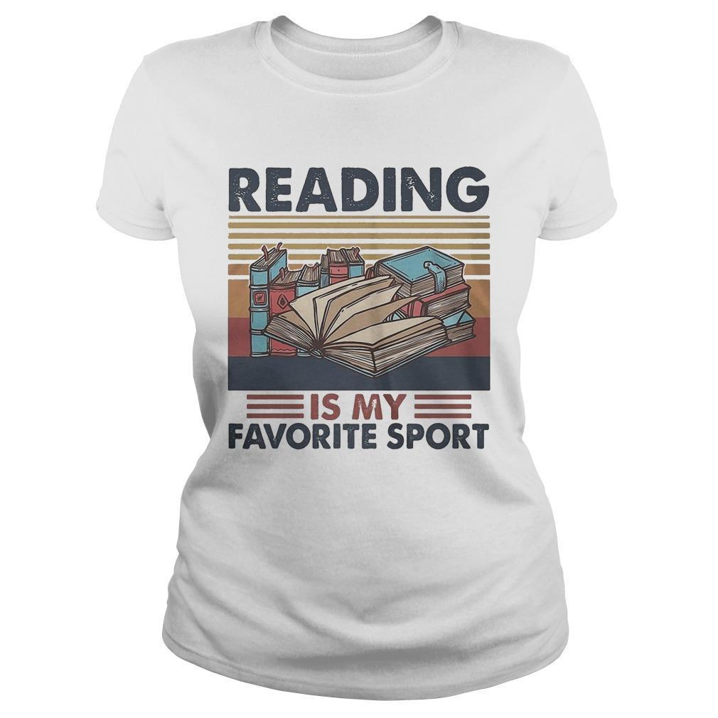 Vintage Books Reading Is My Favorite Sport Longsleeve