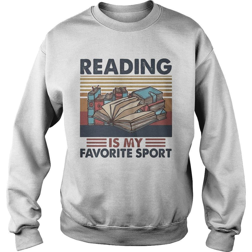 Vintage Books Reading Is My Favorite Sport Sweater