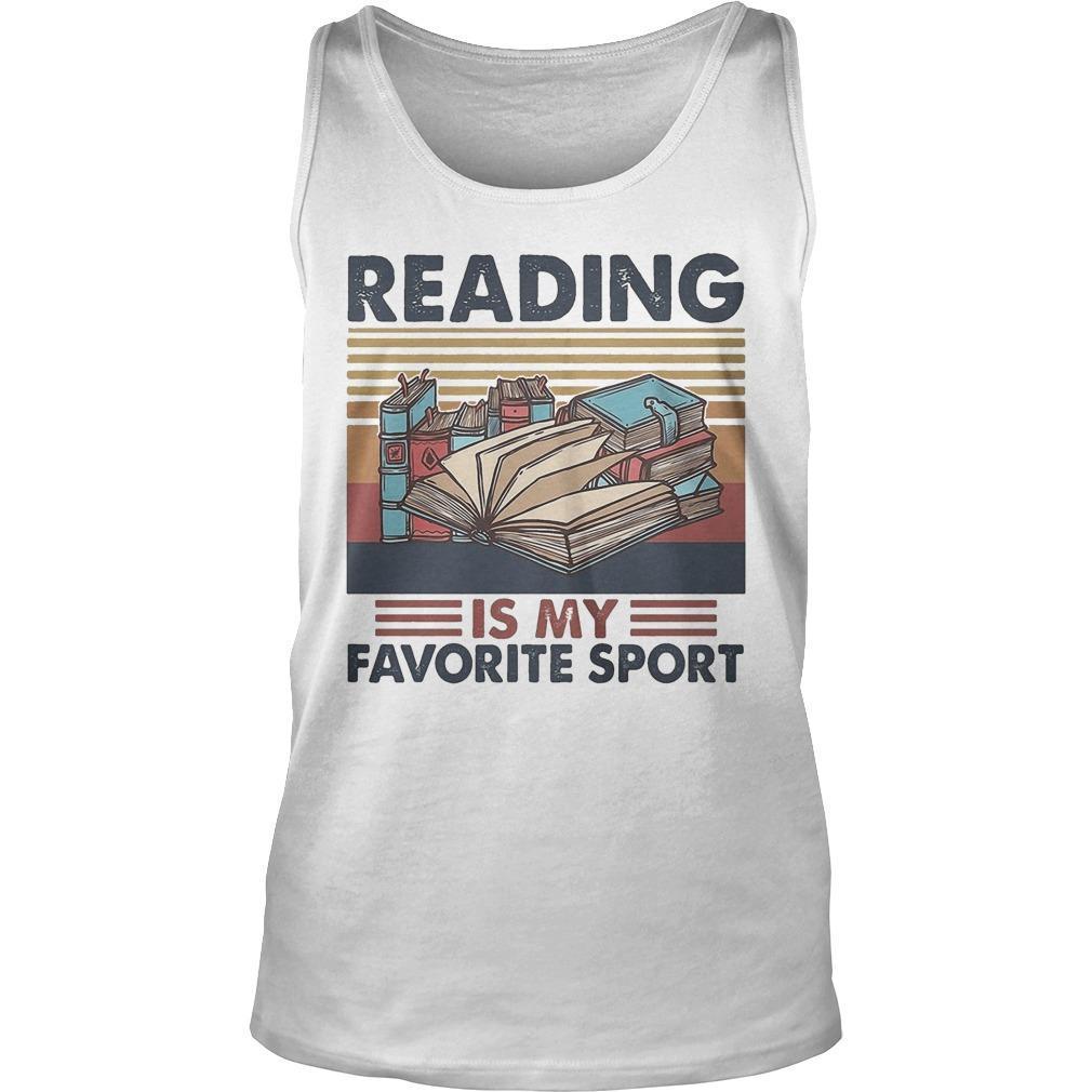 Vintage Books Reading Is My Favorite Sport Tank Top