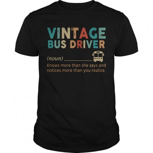 Vintage Bus Driver Knows More Than She Says And Notices Shirt