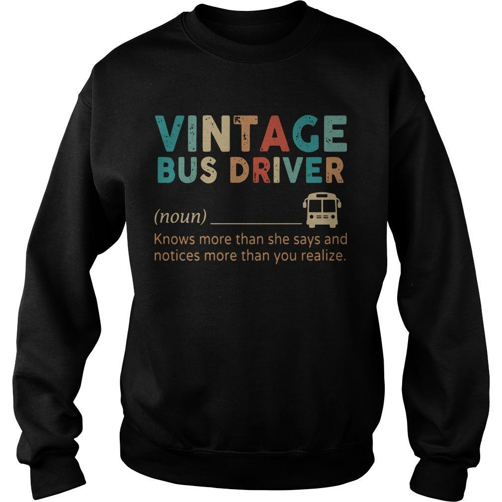 Vintage Bus Driver Knows More Than She Says And Notices Sweater