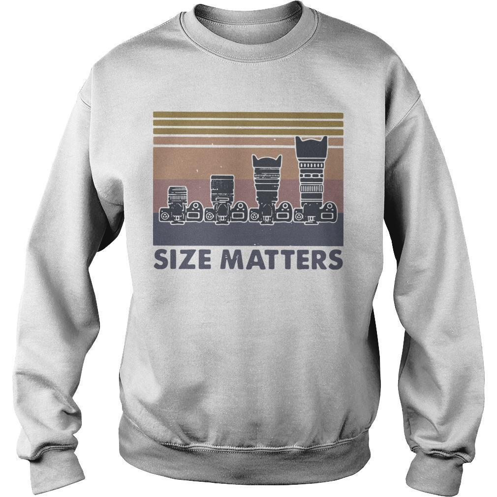 Vintage Camera Size Matters Sweater
