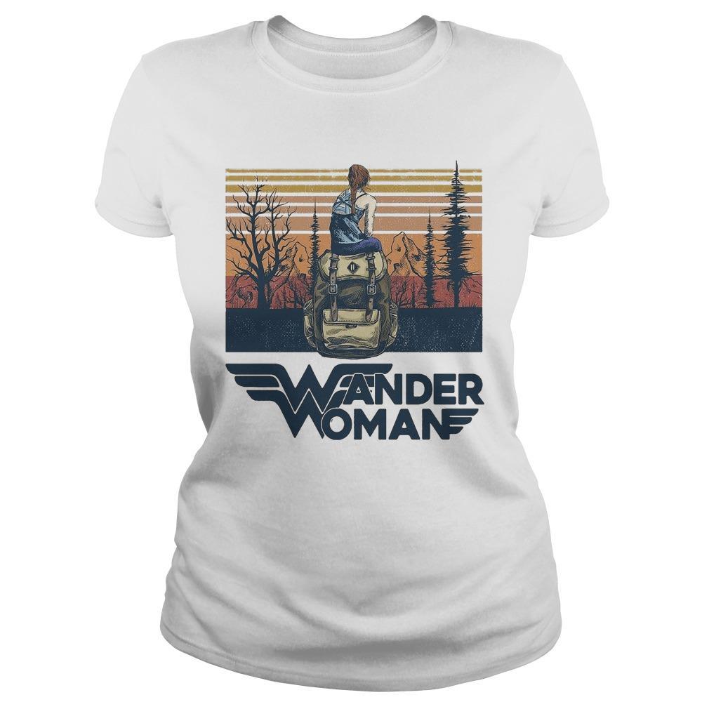 Vintage Camping Wander Woman Longsleeve